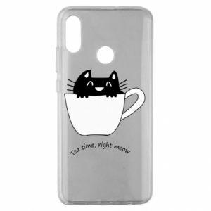 Etui na Huawei Honor 10 Lite Tea time, right meow