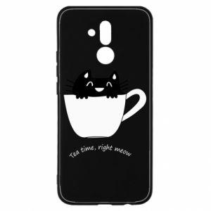 Etui na Huawei Mate 20 Lite Tea time, right meow