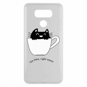 LG G6 Case Tea time, right meow