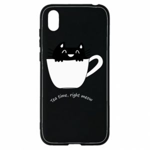 Huawei Y5 2019 Case Tea time, right meow