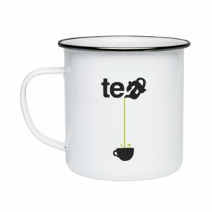 Enameled mug Tea