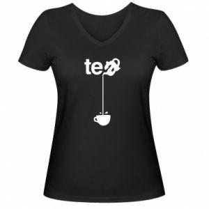 Damska koszulka V-neck Tea - PrintSalon