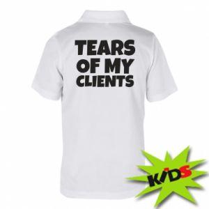 Koszulka polo dziecięca Tears of my clients