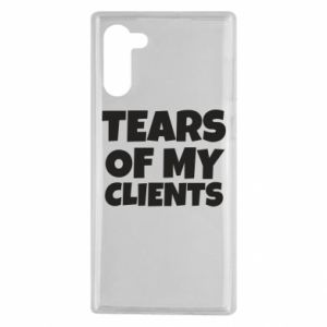 Etui na Samsung Note 10 Tears of my clients