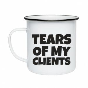Kubek emaliowany Tears of my clients