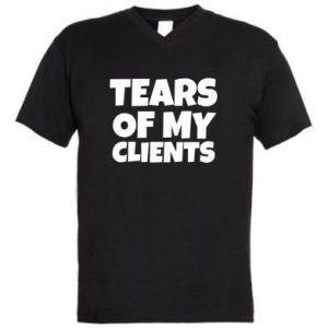 Męska koszulka V-neck Tears of my clients