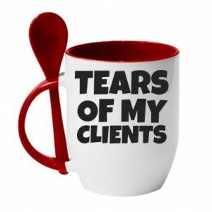 Kubek z ceramiczną łyżeczką Tears of my clients