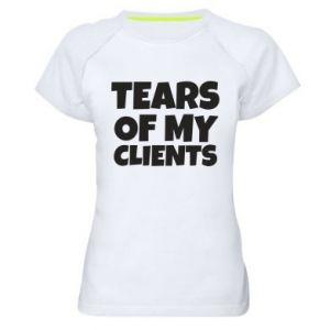 Koszulka sportowa damska Tears of my clients
