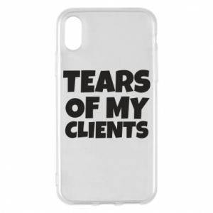 Etui na iPhone X/Xs Tears of my clients