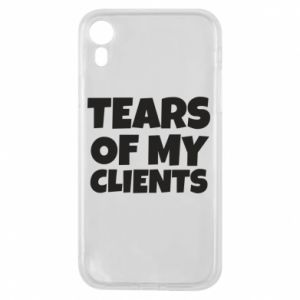 Etui na iPhone XR Tears of my clients