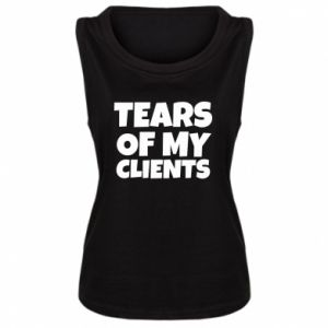 Damska koszulka bez rękawów Tears of my clients
