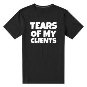 Męska premium koszulka Tears of my clients