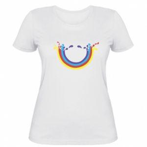 Damska koszulka Uśmiechnięta tęcza