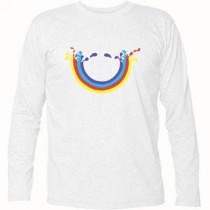 Koszulka z długim rękawem Uśmiechnięta tęcza