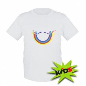 Dziecięcy T-shirt Uśmiechnięta tęcza
