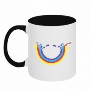 Two-toned mug Smiling rainbow