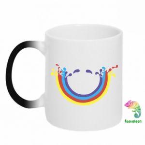 Kubek-kameleon Uśmiechnięta tęcza
