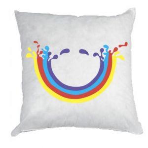 Poduszka Uśmiechnięta tęcza