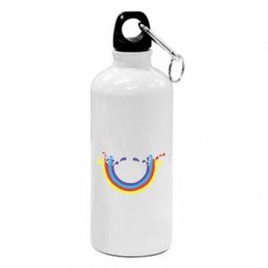 Water bottle Smiling rainbow