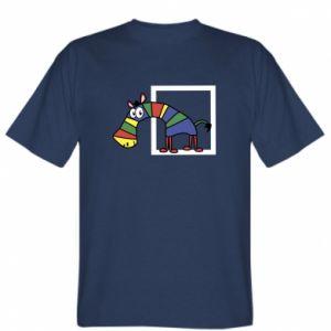 Koszulka Tęczowa zebra - PrintSalon