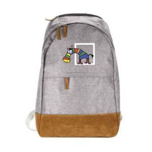 Miejski plecak Tęczowa zebra - PrintSalon