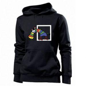 Damska bluza Tęczowa zebra - PrintSalon