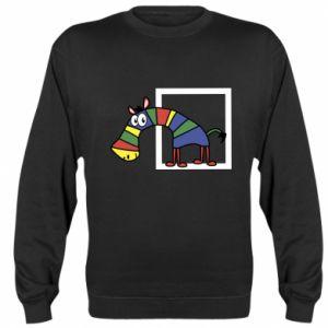Bluza (raglan) Tęczowa zebra - PrintSalon