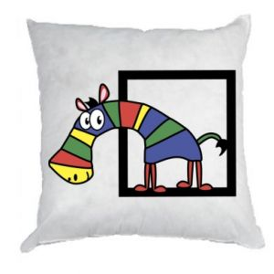 Poduszka Tęczowa zebra - PrintSalon