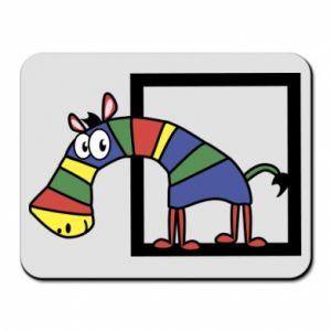 Podkładka pod mysz Tęczowa zebra - PrintSalon