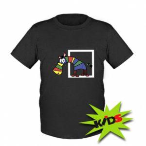 Dziecięcy t-shirt Tęczowa zebra - PrintSalon