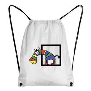 Plecak-worek Tęczowa zebra - PrintSalon