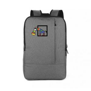 Plecak na laptopa Tęczowa zebra - PrintSalon