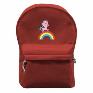 Backpack with front pocket Rainbow pony