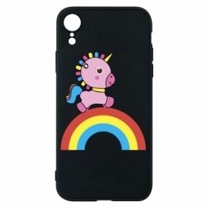 Phone case for iPhone XR Rainbow pony