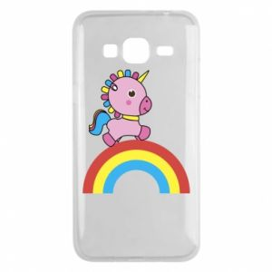 Phone case for Samsung J3 2016 Rainbow pony