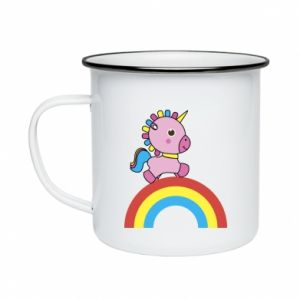 Enameled mug Rainbow pony