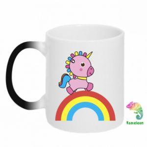 Chameleon mugs Rainbow pony