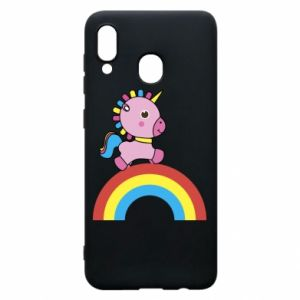 Phone case for Samsung A20 Rainbow pony