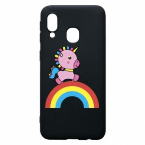 Phone case for Samsung A40 Rainbow pony