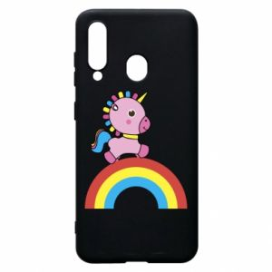 Phone case for Samsung A60 Rainbow pony