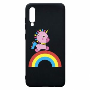 Phone case for Samsung A70 Rainbow pony
