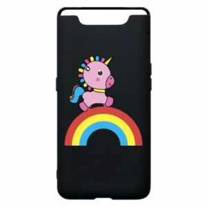 Phone case for Samsung A80 Rainbow pony