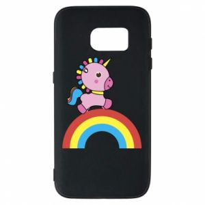 Phone case for Samsung S7 Rainbow pony