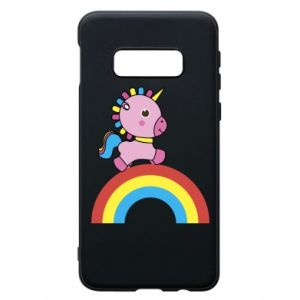 Phone case for Samsung S10e Rainbow pony