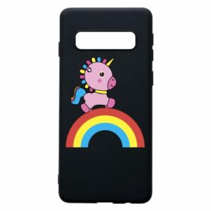 Phone case for Samsung S10 Rainbow pony