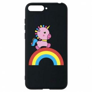 Phone case for Huawei Y6 2018 Rainbow pony