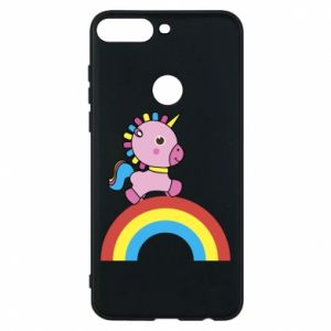 Phone case for Huawei Y7 Prime 2018 Rainbow pony