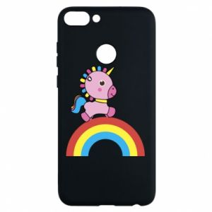 Phone case for Huawei P Smart Rainbow pony