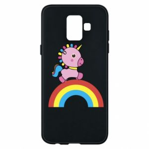 Phone case for Samsung A6 2018 Rainbow pony