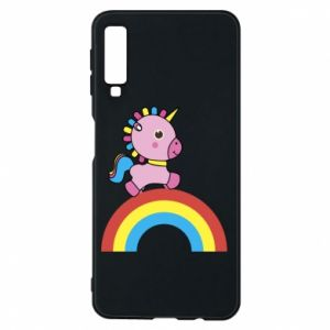 Phone case for Samsung A7 2018 Rainbow pony